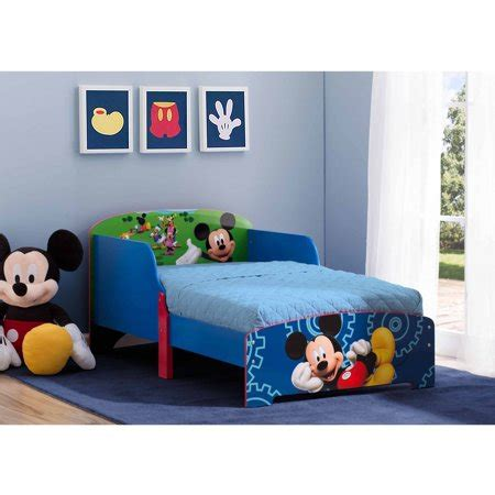 mickey mouse bed disney mickey mouse wood toddler bed walmart