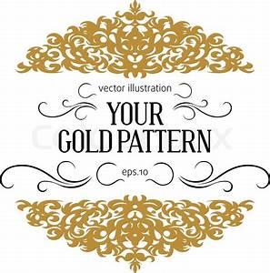 Vintage golden border Stock Vector Colourbox