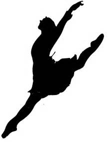 Leaping Dancer Silhouette Clip Art