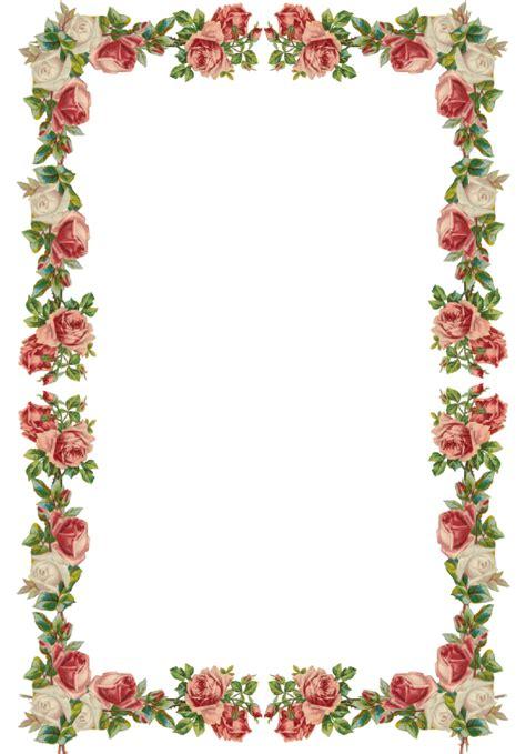 digital vintage rose frame  border png