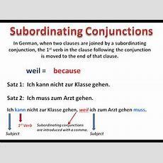 How Subordinating Conjunctions Work Buzzplscom