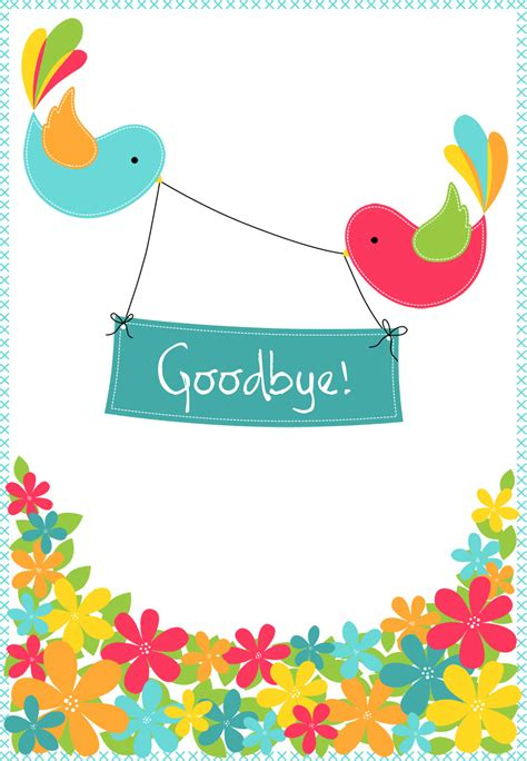 printable goodbye cards goodbye from your colleagues free printable good luck