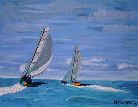 Sailing Boat Art by Sailing Boats Racing The Race Art By Frimley Surrey