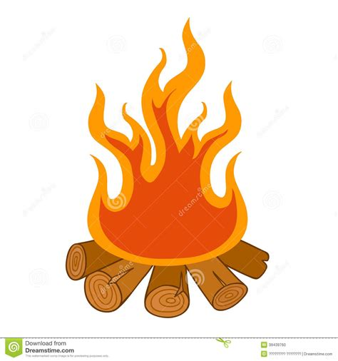 wood burning pit pit background clipart