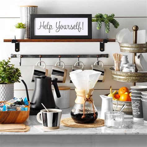 A diy coffee bar in your home can help you entertain family, friends, loved. 11 Coffee Bar Ideas That Fit Every Style (With Photos)