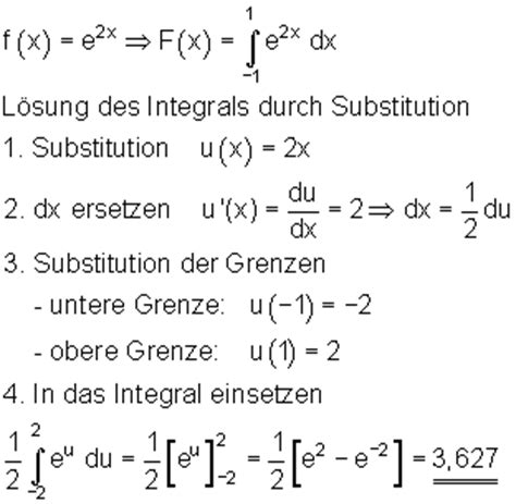 integration durch substitution
