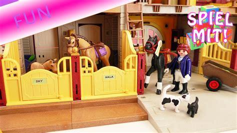 playmobil reiterhof country deutsch aufbau des pferdehof