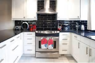 black backsplash in kitchen kitchen subway tiles are back in style 50 inspiring designs