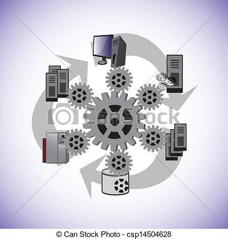 system enterprise architecture  vector illustrates