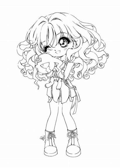 Coloring Chibi Pages Anime Printable Popular