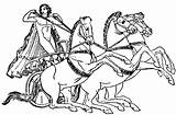 Chariot Greek Pages Coloring Template Roman Sketch sketch template