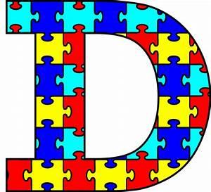 autism puzzle clipartsco With puzzle letters