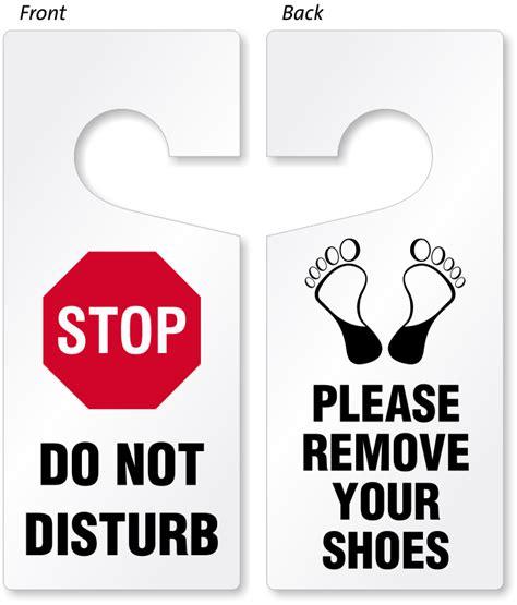 door hanger signs do not disturb door hangers
