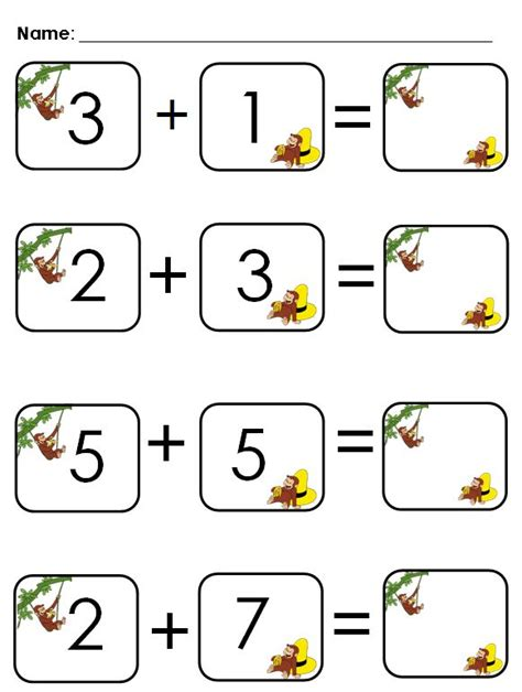 aloha kindergarten cute addition worksheet school stuff pinterest math candy and love this