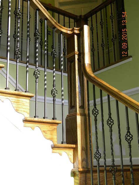 Wood Stairs and Rails and Iron Balusters: Oak Stair And