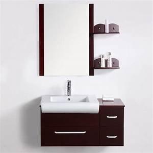 Meuble salle de bain design pas cher BEAURIN 90cm Achat
