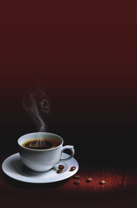 landscape coffee cup  red background landscape coffee