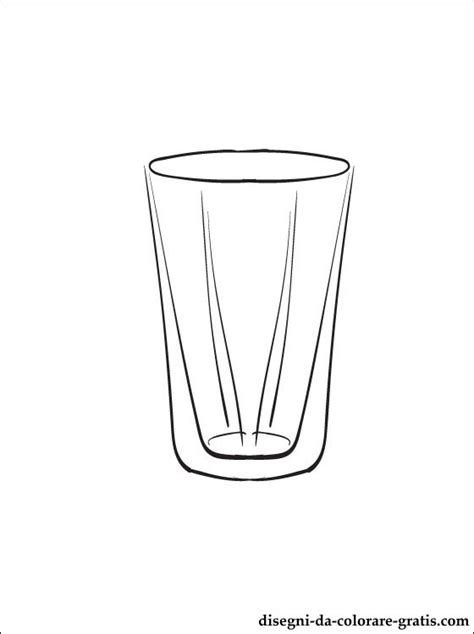 Bicchieri Da Colorare by Disegno Di Bicchiere Da Stare Disegni Da Colorare Gratis