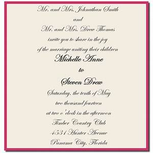 wedding invitation wording both parents giant design With my wedding invitations messages