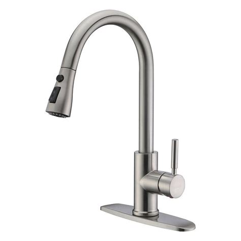 Kitchen Faucet Replacement by New Brushed Nickel Pull Out Sprayer Kitchen Faucet