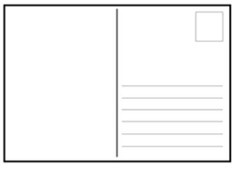postcard template blank letter landscape  gentleben