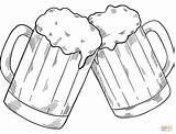 Coloring Beer Mugs sketch template
