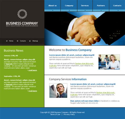 Web Page Templates Communications Webpage Template 3156 Business