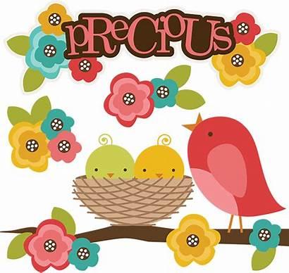 Clipart Precious Bird Clip Svg Spring Misskatecuttables