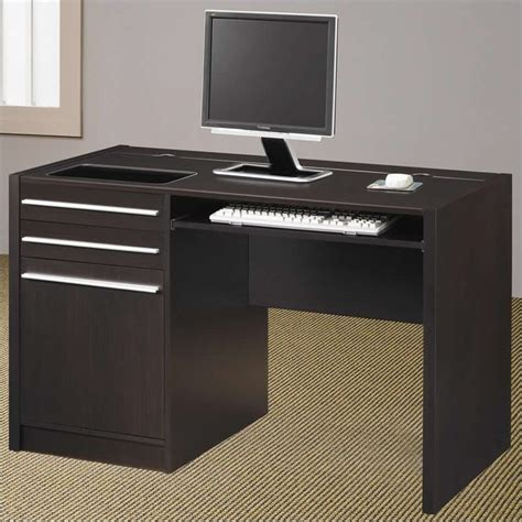 desk l with charging station coaster ontario single pedestal computer desk with