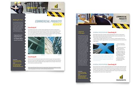 industrial commercial construction datasheet template