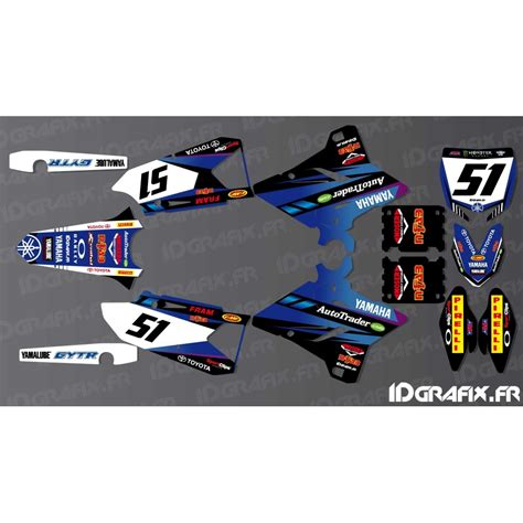 kit deco yz 125 kit decoration justin barcia edition yamaha yz yzf 125 250 450