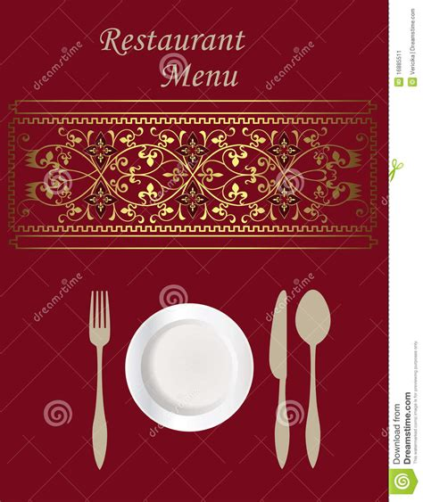 menu card design stock image image