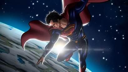 Superman Space Wallpapers 4k Espacio Artstation Superheroes