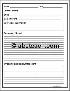 1000 ideas about current events worksheet on pinterest