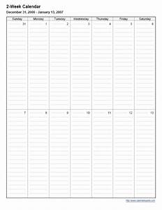 printable 2 week calendar calendarsquick With two week calendar template excel