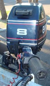 8 Hp Evinrude Outboard Sailboat Motor