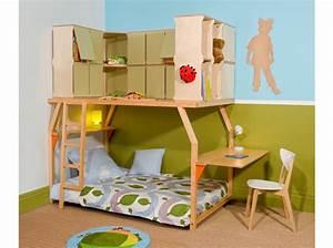 Lit Mezzanine Enfant : un lit mezzanine pour enfant 6 ans et plus le journal de la maison ~ Teatrodelosmanantiales.com Idées de Décoration