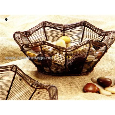 Cestino in ferro 3 dimensioni da cucina - tavolo - CasaBottega