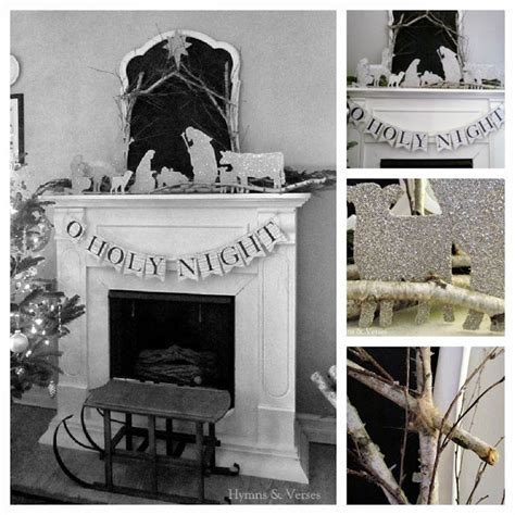 diy silhouette nativity templates hymns  verses