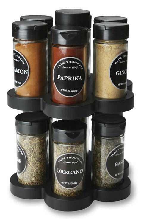 Olde Thompson Spice Rack Replacement Jars by Olde Thompson 12 Jar Carousel Spice Rack New Ebay