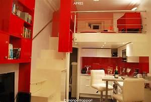 Studio Mezzanine Paris : un studio mezzanine optimis en beaut moderne cuisine ~ Zukunftsfamilie.com Idées de Décoration