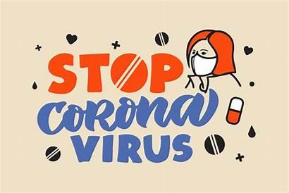 Coronavirus Lettering Phrases Cart Example