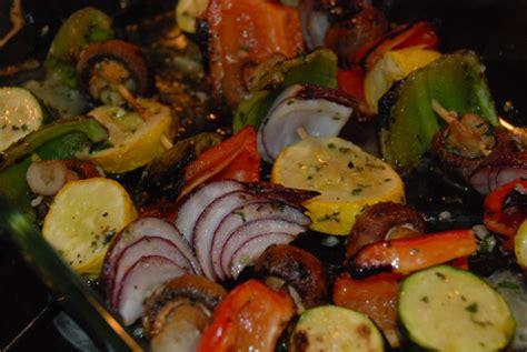 easy vegetable kabobs recipe foodcom