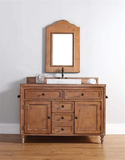 distressed single sink bath vanity custom options