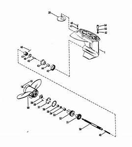 Mercury Marine 25xd Hp Gear Housing  Propeller Shaft  Parts