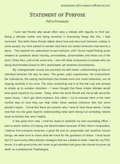 Graduate School Resume Sle by Sle Statement Of Purpose Grad School