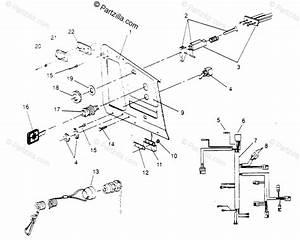 Polaris Snowmobile 1995 Oem Parts Diagram For Console Xlt