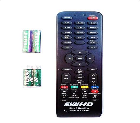 Sun Direct SUN DIRECT HD SET TOP BOX Remote Controller