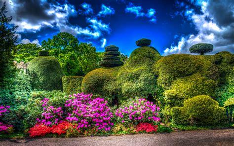 english garden hd wallpaper background image