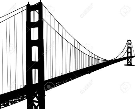Golden Gate Clipart Black And White Pencil And In Color